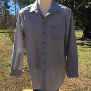 Stafford Wrinkle-Free Gray Dress Shirt